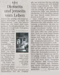Lychatz Verlag Rezensionen Pressekommentare Zu Todesengeln